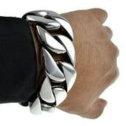 "Mens Huge Bracelet 316L Stainless Steel 30 MM Wide Chunky Cuban Link Big 8.5"" x 30MM"