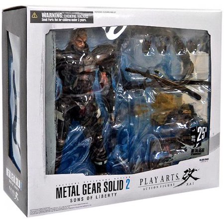 Metal Gear Solid 2 Sons of Liberty Play Arts Kai Solidus Snake Action Figure (Solid Snake Square Enix)