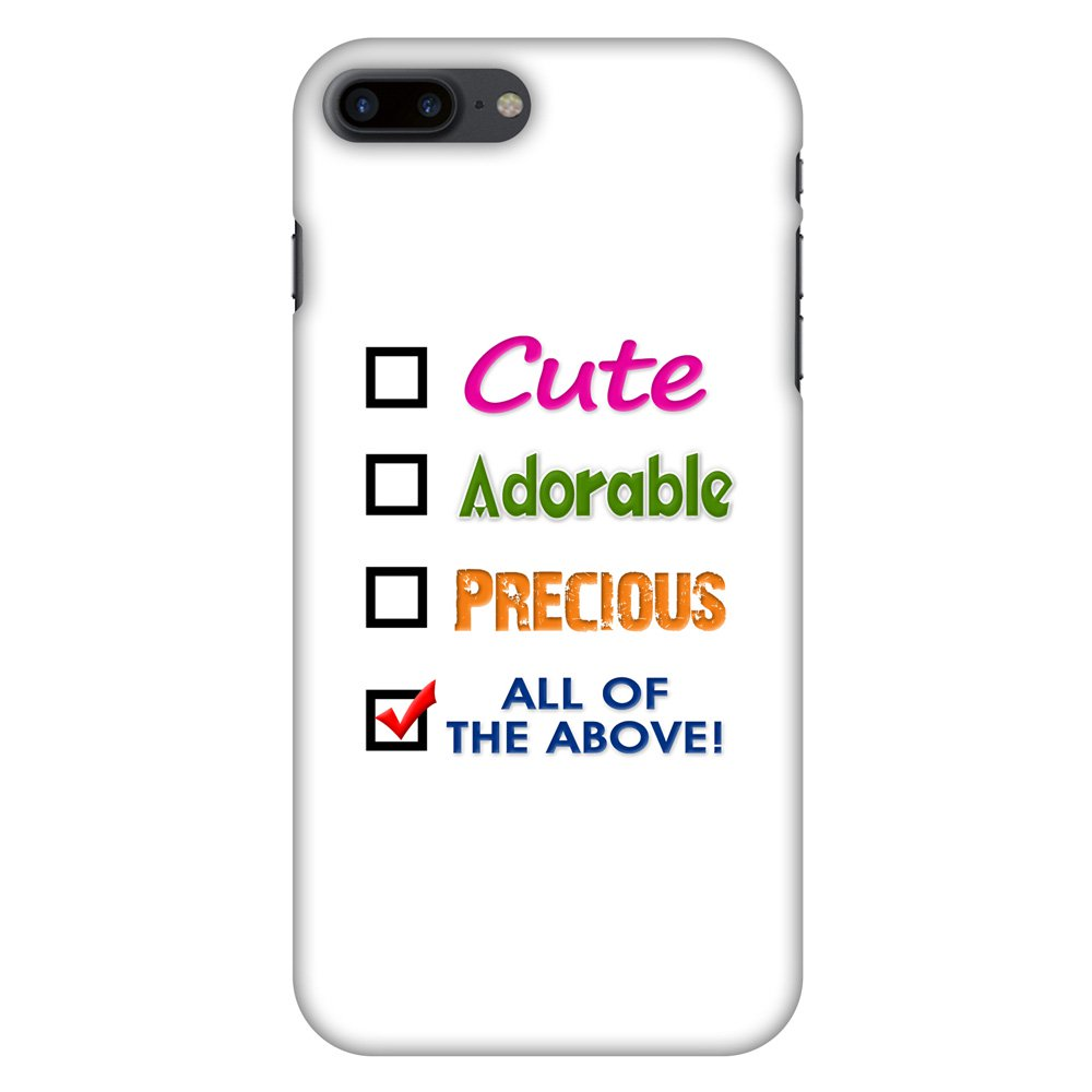 iPhone 7 Plus Designer Case, Premium Handcrafted Printed Designer Hard ShockProof Case Back Cover for iPhone 7 Plus - Cute, 5.5 Inch iPhone 7, HD Color, Soft Finish
