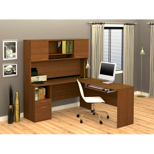 Bestar Flame 2-Piece L-Shape Executive Desk Office Suite