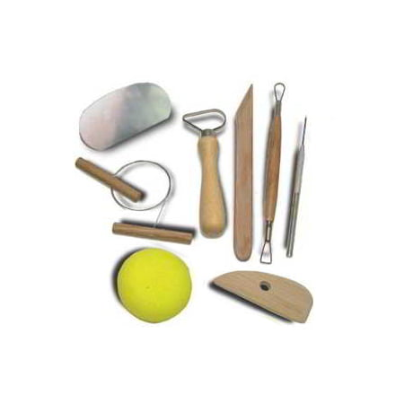 8pc Basic Pottery Kit Clay Molding Hobby Arts and Craft Tool Set for