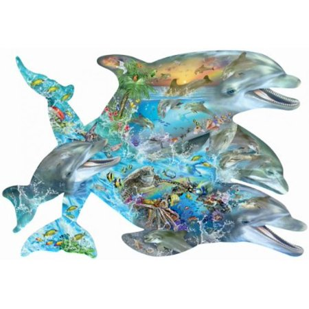 Song of the Dolphins a 1000-Piece Jigsaw Puzzle by Sunsout Inc. Bottlenose Dolphin Puzzle