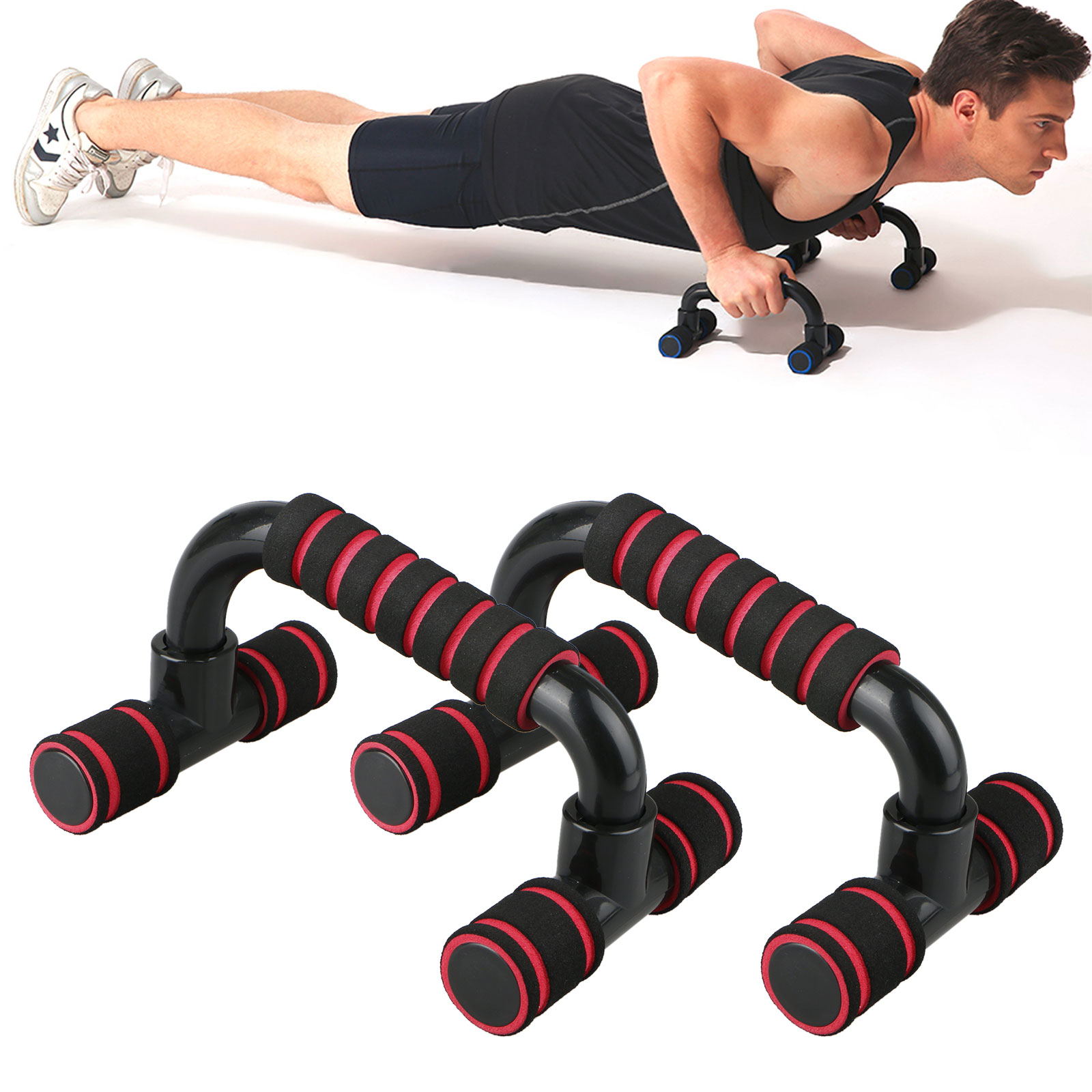 Perfect Muscle Push up Pushup Bars Stands Handles Fitness Equipment for Push-Up Exercise Home Workout Fat Burning & Full Body Training for Chest & Arms Tool