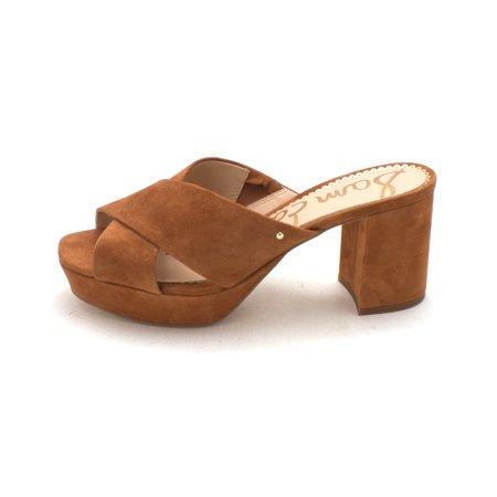 febc717ab8ae11 Sam Edelman - Sam Edelman Womens Jayne Suede Open Toe Casual Slide Sandals  - Walmart.com