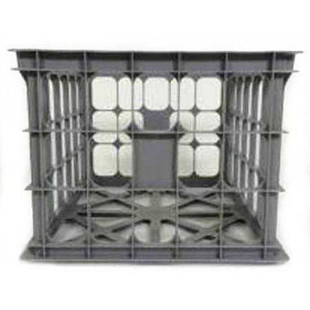 Homz College Storage Crates, Gray, Set of 6