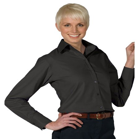 Edwards Garment Women's Matching Buttons Long Sleeve Blouse, Style 5295