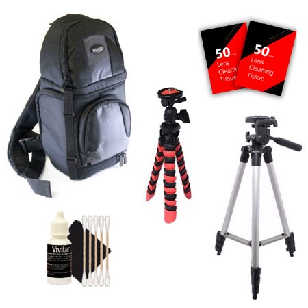 Tall Tripod, Flexible Tripod Backpack and More for Nikon D7200 D5600 D5500 D3400 D3200 and All Nikon