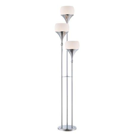 Lite Source LS-82225 Polished Chrome Celestel 3 Light Floor Lamp