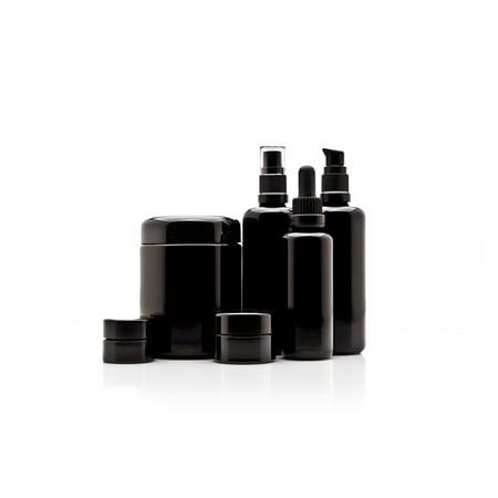 Infinity Jars Cosmetic DIY Variety Pack: 5 ml, 15 ml, 250 ml Screw Top Jars, 100 ml Push Pump Bottle, 100 ml Fine Mist Bottle, 50 ml Dropper Bottle