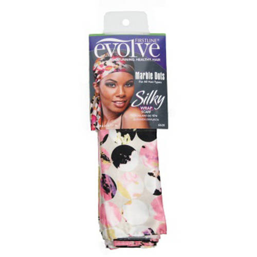 Evolve Silky Wrap Scarf-Marble Dots