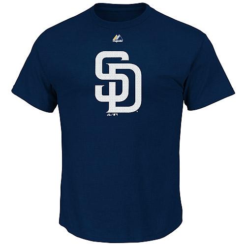 San Diego Padres Majestic Youth Mesh Logo T-Shirt - Navy