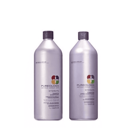 Pureology Hydrate Shampoo And Conditioner Liter Set, 33.8 Fl (Best Hair Straightening Method)