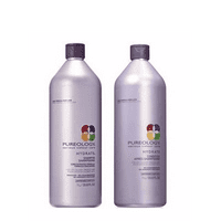 ($138 Value) Pureology Hydrate Shampoo And Conditioner Liter Set, 33.8 Fl Oz