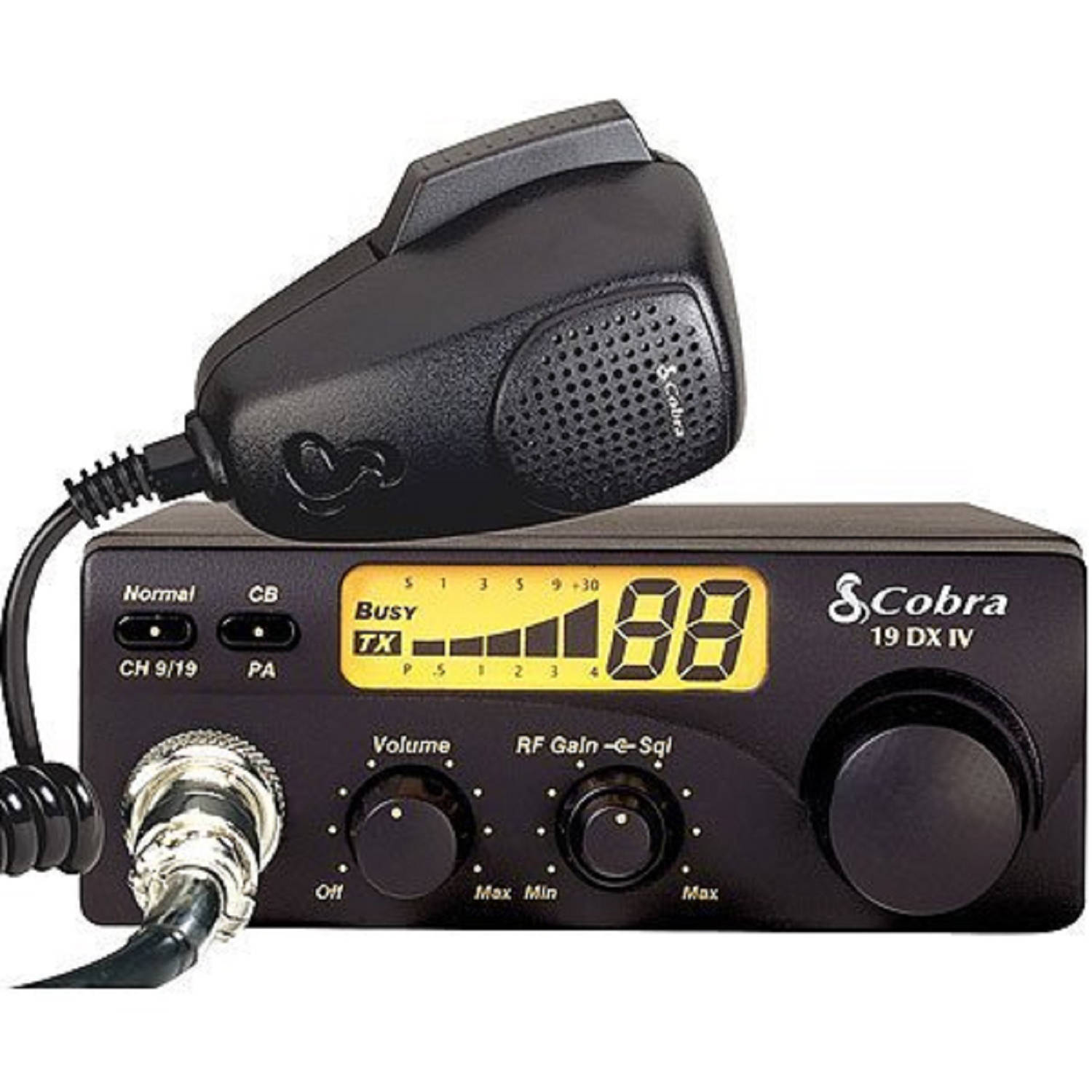 Cobra 19 DX IV CB Radio, Compact, 40 Channel, 4 Watt