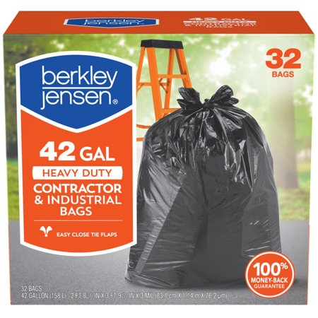 Product of Berkley Jensen 42-Gal. 3mil Heavy Duty Contractor and Industrial Use Bags, 32 ct. [Biz Discount] ()