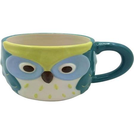 Figural Owl Mug, Blue