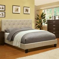 Furniture of America Wendy Tufted Platform Bed - Ivory