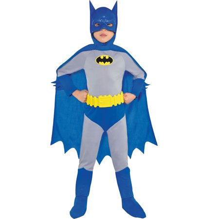 Costumes USA The Brave and the Bold Classic Batman Costume for Boys, Includes a Jumpsuit, a Mask, and More - Costumes And More