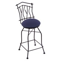 Holland Bar Stool Aspen 25 in. Swivel Counter Stool - Black Wrinkle