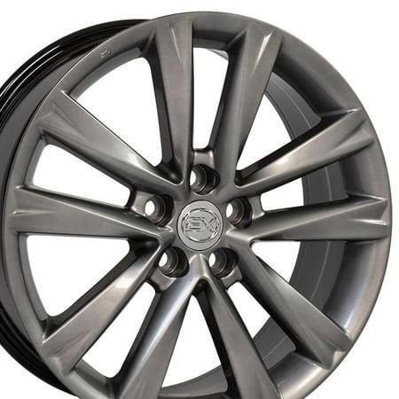 19x7.5 Wheel Fits Lexus, Toyota - RX 350 F Sport Style Hyper Silver Rim, Hollander