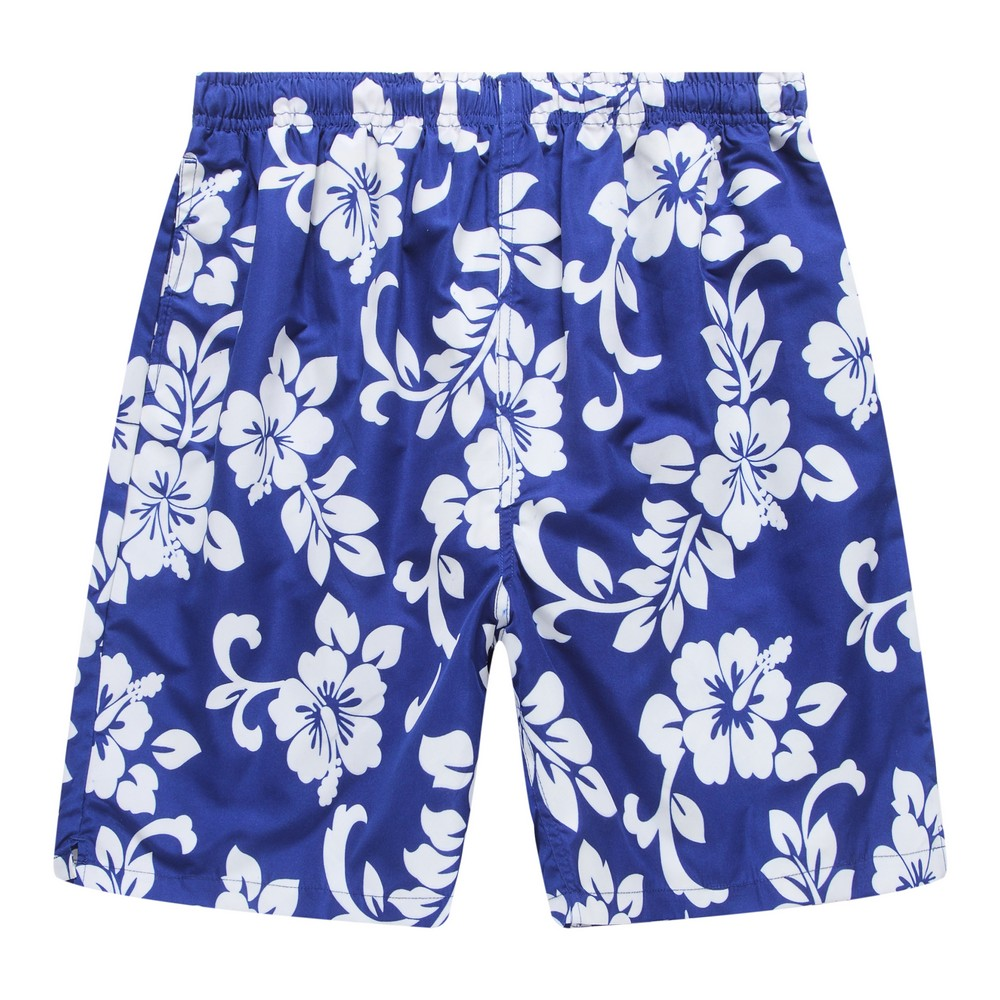 Hawaii Hangover Men's Swim Trunk in All Over Floral Print in Royal Blue