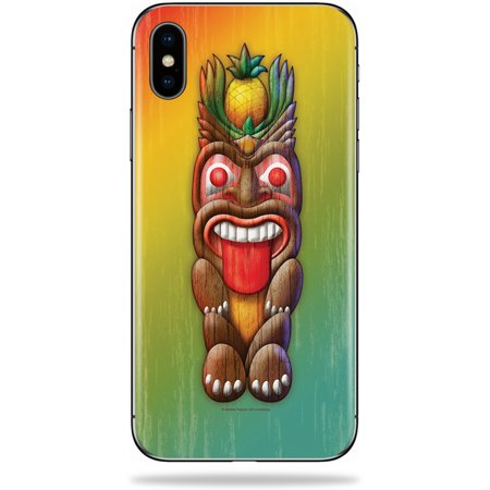 Skin for Apple iPhone X - Tiki Man| MightySkins Protective, Durable, and Unique Vinyl Decal wrap cover | Easy To Apply, Remove, and Change Styles | Made in the USA - Tiki Man