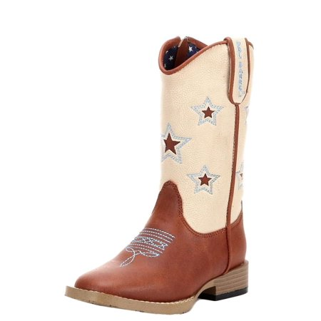 Double Barrel Western Boots Boys Lone Star Cowboy Kids Brown 4451402