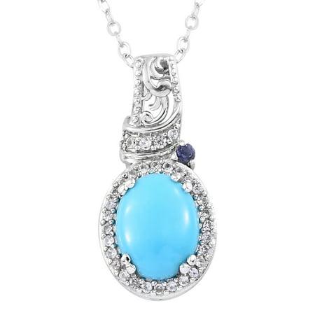 - Sleeping Beauty Turquoise Pendant Necklace 20