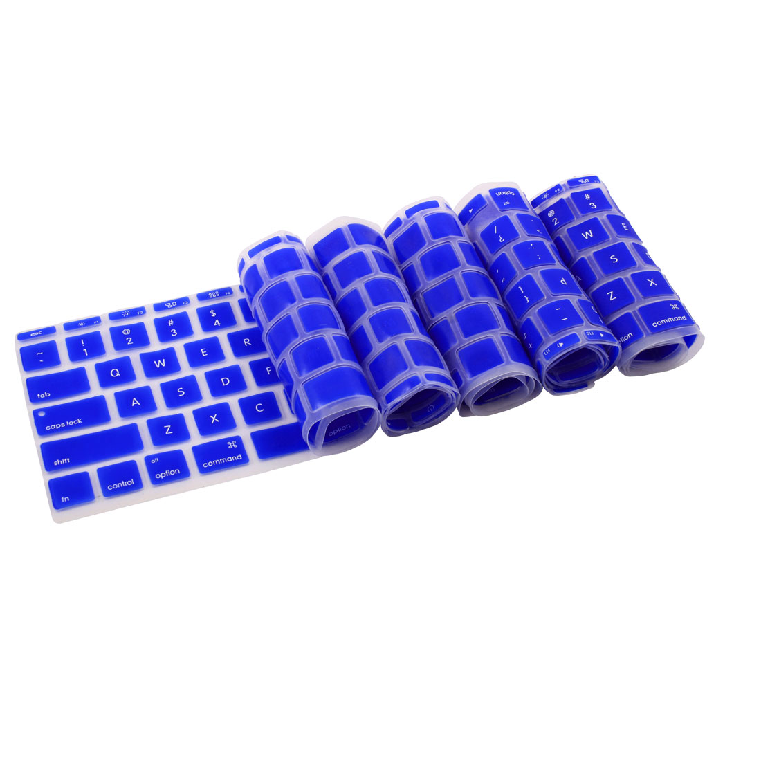 Silicone Notebook Laptop Keyboard Film Cover Skin Blue 5pcs for MacBook 11.6