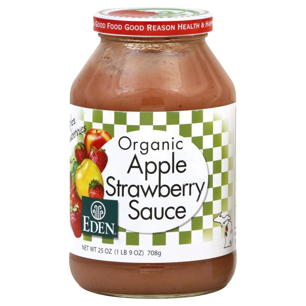 Eden Foods Apple Sauce, Strawberry, 25 Oz by Eden Foods