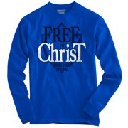 Free in Jesus Christ Christian Shirt Religious Gift Lord Gift Long Sleeve Tee