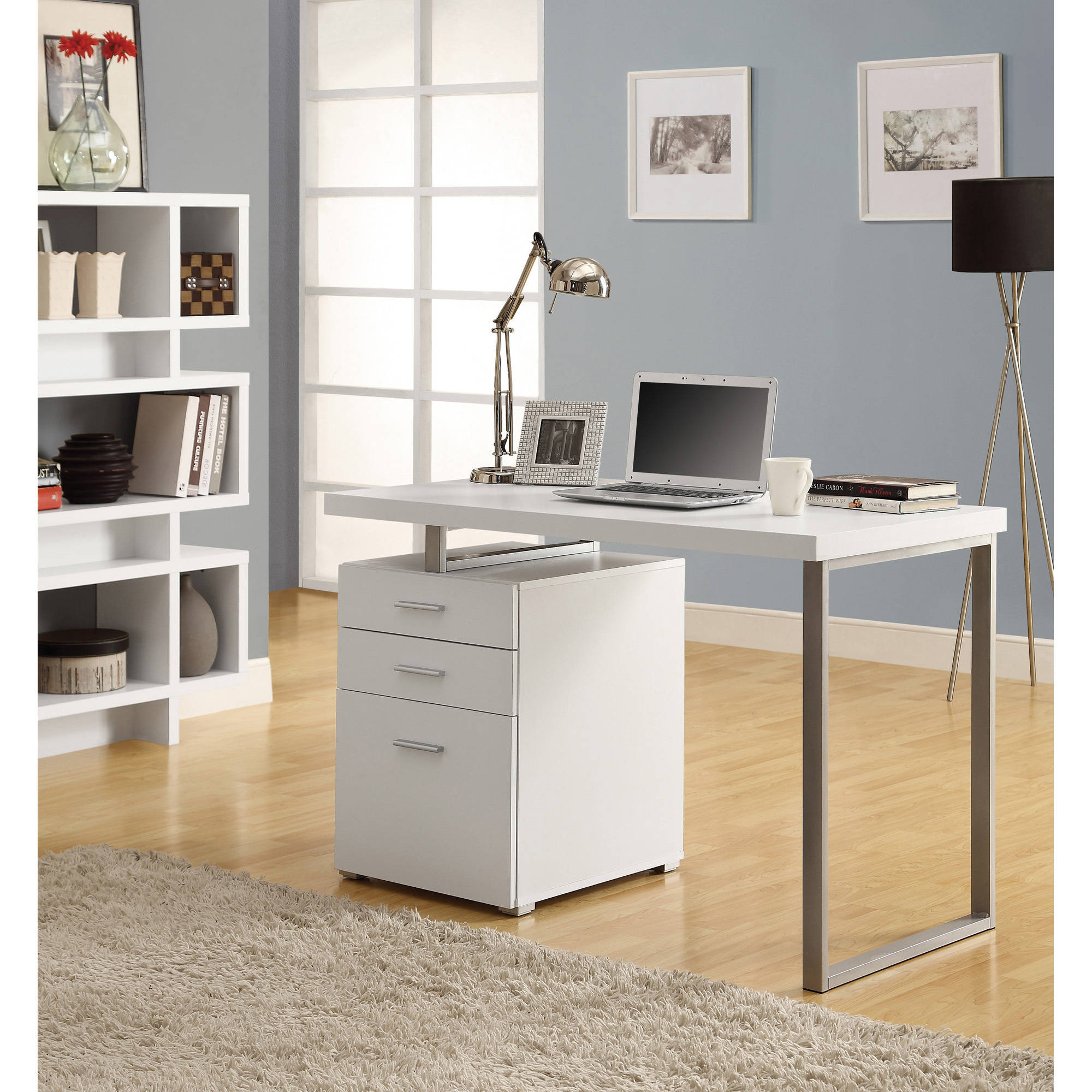 "Monarch Computer Desk 48""L / White Left Or Right Facing"