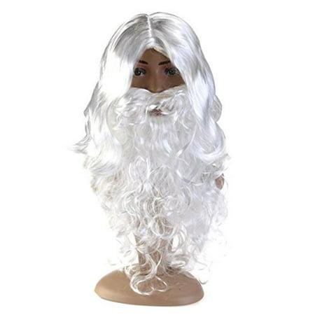 Beard Mustache Deluxe White Wig Costume](White Beard Wig)