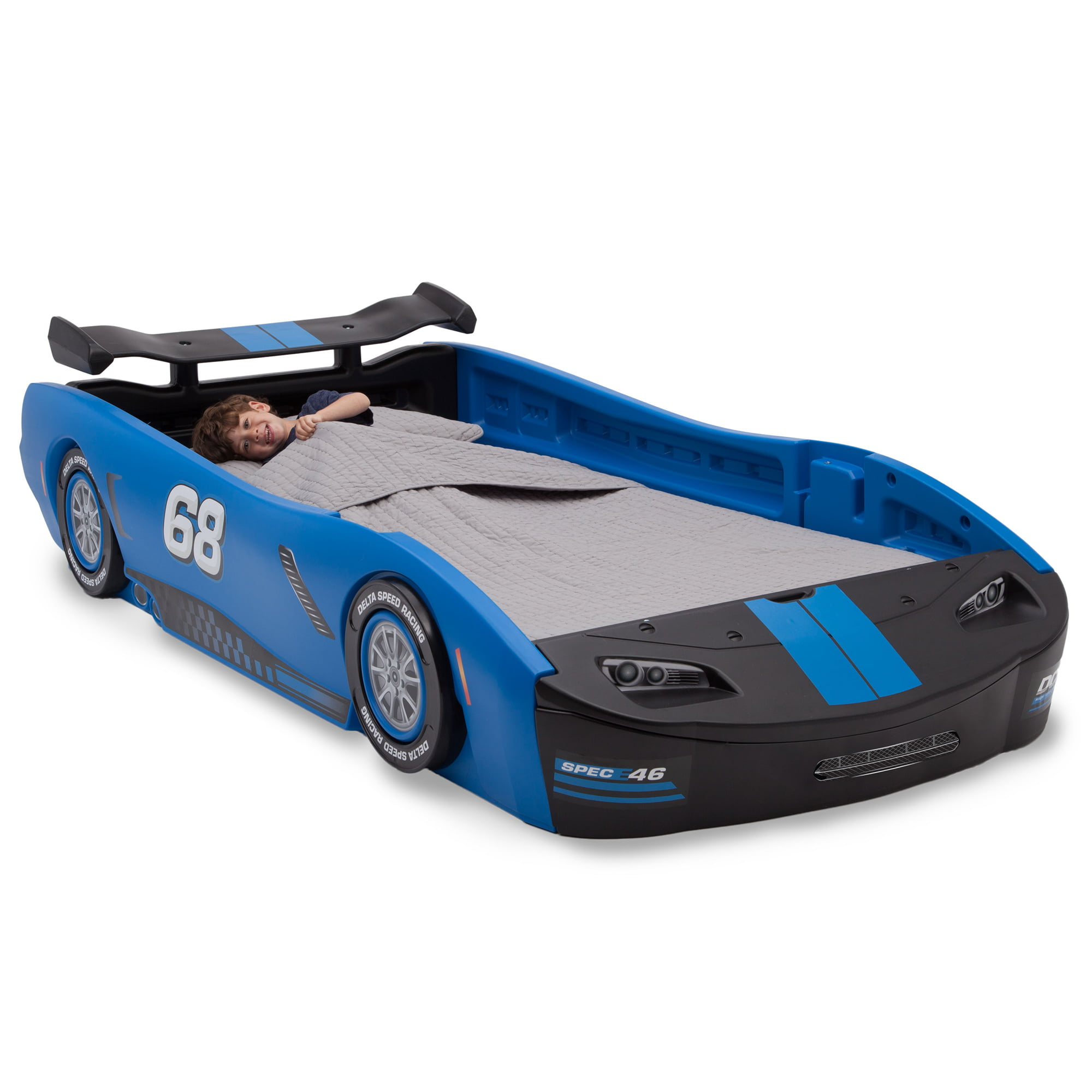 Delta Children Turbo Race Car Twin Bed Blue Walmart Com Walmart Com