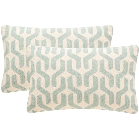 Safavieh Minos Pillow, Misty Mint, Set of 2