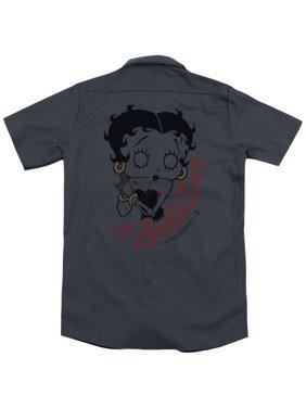 Betty Boop Classic Zombie (Back Print) Mens Work Shirt