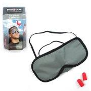 Swiss Gear Sleeping Mask Blindfold Earplugs Set Eye Cover Travel Shade Relax Aid