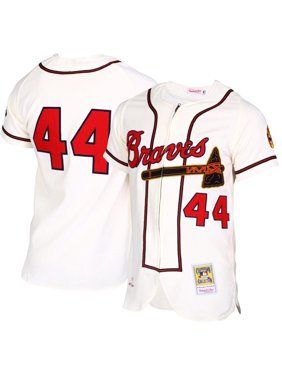 Hank Aaron Atlanta Braves Mitchell & Ness MLB Authentic Jersey - Cream