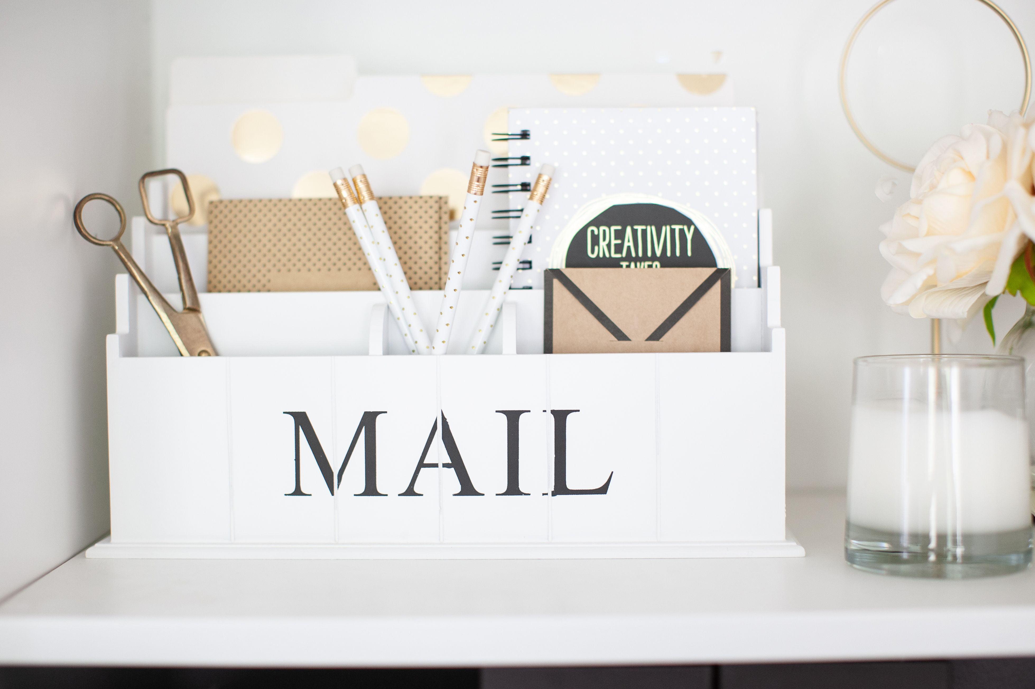 Blu Monaco Wooden Mail Organizer - 49 Tier White Desk Organizer - Rustic  Country Mail Sorter - Kitchen Counter Organizer Mail Holder - Walmart.com