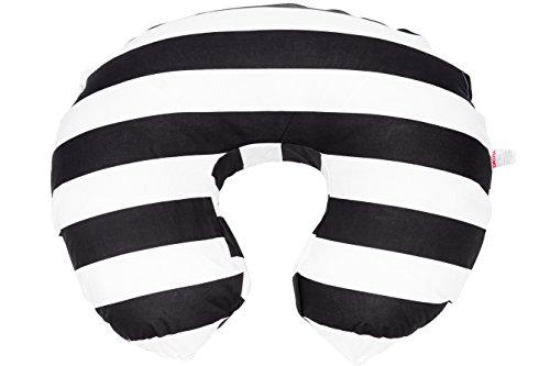 Danha Nursing Pillow Slipcover (black & white stripe) by Danha