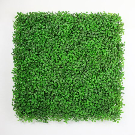 Boxwood Mat - ULAND Light Green Artificial Boxwood Hedge Mat for Indoor/Outdoor Decor Office Buildings Greenery Covering, 20'' L X 20'' W (6 Piece/16.68sq. Ft., 12 Piece/33 sq.ft. )