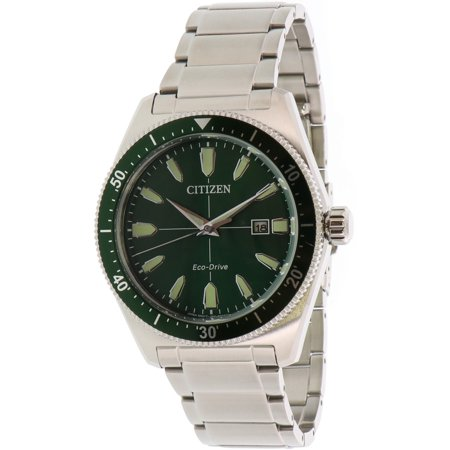 Citizen Men's Brycen AW1598-70X Green Stainless-Steel Japanese Automatic Fashion Watch ()
