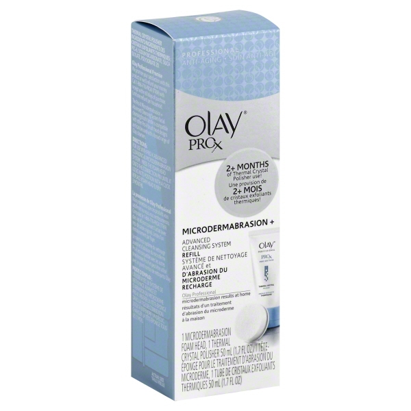 Olay ProX Microdermabrasion + Advanced Cleansing System Refill, 2 pc