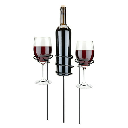 TRUE Picnic Stix™: Wine Glass & Bottle Holders