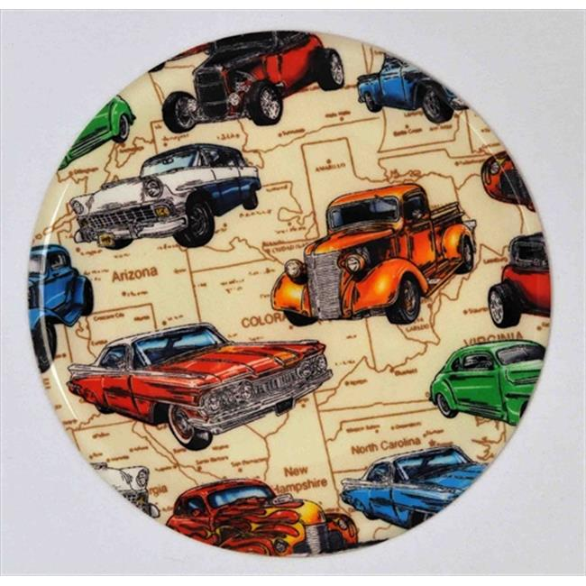 Andreas TRT-228 10 inch Hot Rods Silicone Trivet - Pack of 3