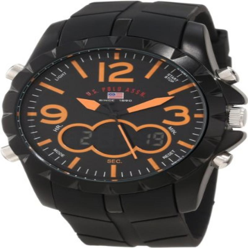 U.S. POLO ASSN Sport Men's US9238 Sport Watch with Black ...
