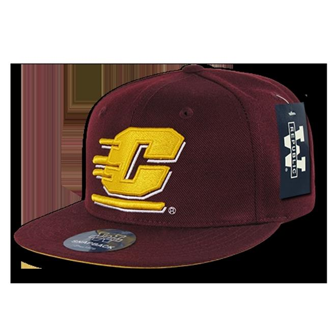 W Republic College Snapback Central Michigan University, Maroon