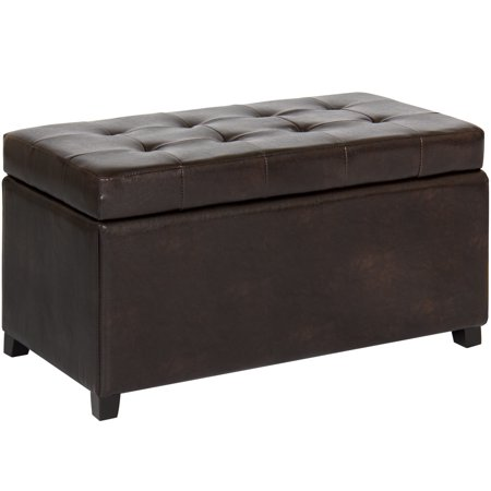 Best Choice Products Tufted Leather Storage Ottoman Bench Footrest for Home, Living Room w/ Lift Open Lid, Child Safety Hinge, and 440lb Capacity - - Best Adult Stores