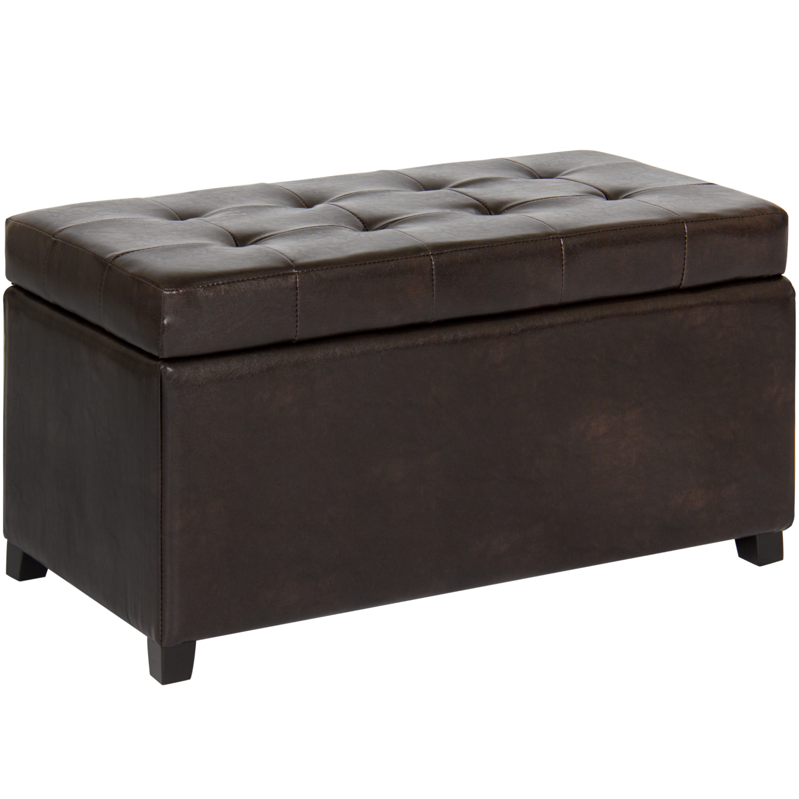 Ordinaire Best Choice Products Tufted Leather Storage Ottoman Bench For Home, Living  Room W/ Lid