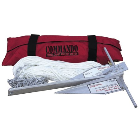 Fortress Commando Small Craft Anchor System for Boats Up to 16', Includes G-5 Anchor, Storage Bag, 3/16